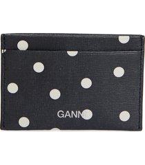 women's ganni leather card case -