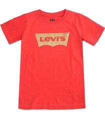 camiseta rojo-dorado levi's kids