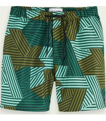 scotch & soda zwembroek met all-over print