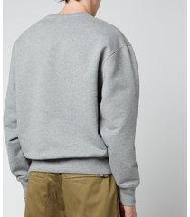 ami men's oversized de coeur logo sweatshirt - heather grey - xxl