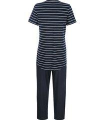 pyjamas schiesser marinblå/vit