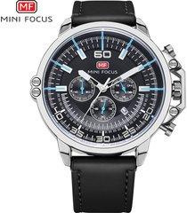 reloj para hombre/correa de piel/ mini focus / 0095g / reloj