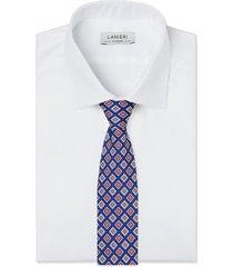 cravatta su misura, lanieri, torino seta blu, quattro stagioni | lanieri