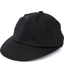 ader error logo-embroidered double button cap - black