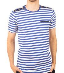 camiseta rayas cuello redondo azul rey ref. 108041119