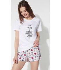 pigiama corto stampa grass