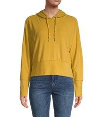 walter baker women's lolita raglan sleeve hoodie - yellow - size m