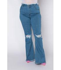 akira plus size all i wanna do high rise flare jeans