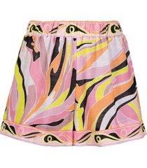 emilio pucci vetrate print beach shorts - pink