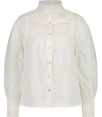 blouse met broderie details tindy  naturel