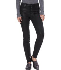 women's paige transcend - hoxton coated high waist ultra skinny jeans