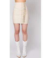 akira get right buckle mini skirt
