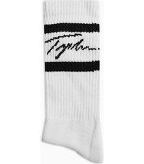 mens signature white stripe tube socks