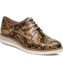 woms lace-up snörade skor låga brun tamaris