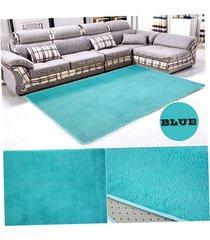 ew alfombra de lana azul salón dormitorio-azul