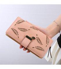 billetera mujeres- bolsos largos de la cartera de las-rosa