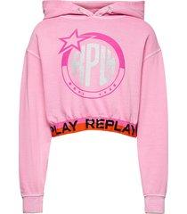 jumper back to school hoodie trui roze replay