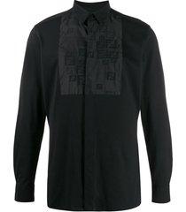 bib detail button down shirt