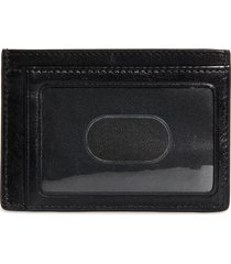 nordstrom richmond leather id card case in black at nordstrom