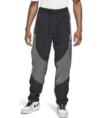 jordan 23 engineered ripstop nylon cargo pants, size medium in black/iron grey/black/white at nordstrom