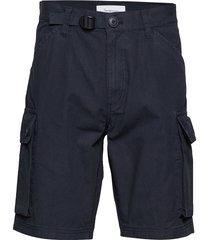 trek durable rib-stop shorts - gots shorts cargo shorts blauw knowledge cotton apparel