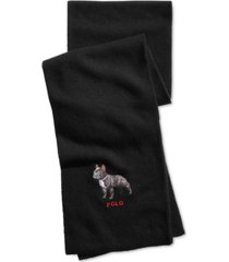 polo ralph lauren men's bulldog cold weather scarf