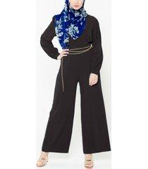 urban modesty women's criss cross jumpsuit