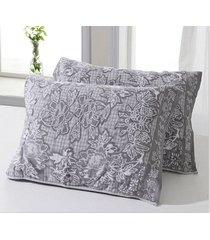 2pcs-set-bamboo-fiber-jacquard-flower-pillow-towel-pillow-case-ventilation-thick