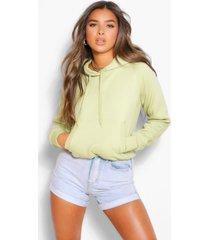 petite basic hoodie, groen