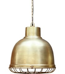 villa2 industry pendant with iron nautical wire mesh in brushed retro finish 25 watt