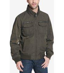tommy hilfiger men's four-pocket filled performance bomber jacket