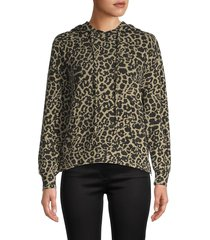 for the republic women's animal-printed hoodie - cheetah - size l