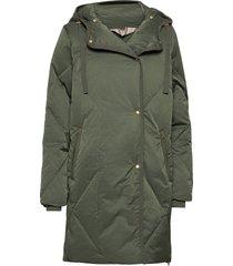 heavy outerwear gevoerde lange jas groen noa noa