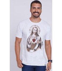 camiseta sagrado coração de jesus dve4435 ágape masculina - masculino