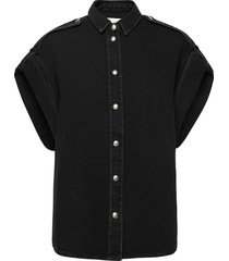 anglia kortärmad skjorta svart iro