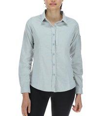 camisa mujer m/l lavanda melange merrell