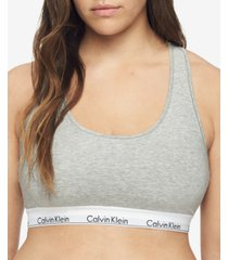 calvin klein plus size modern cotton unlined bralette qf5116