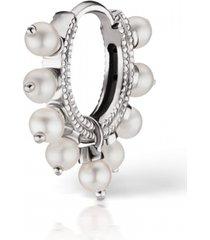 6.5mm pearl coronet earring - white gold