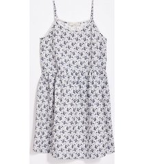 loft petite floral lacy strappy swing dress