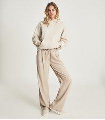 reiss andie - oversized loungewear hoodie in neutral, womens, size l