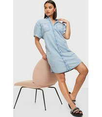 wrangler denim shirt dress light indigo loose fit dresses