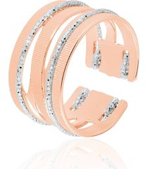 anello small in bronzo bicolore per donna