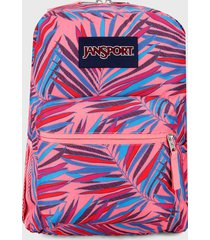 morral  coral-azul jansport cross town