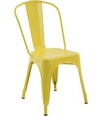 conjunto 04 cadeiras iron amarela rivatti - amarelo - dafiti
