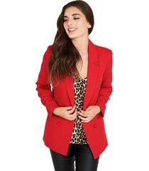 blazer botones decorativos rojo nicopoly