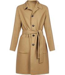 ami alexandre mattiussi belted wool coat