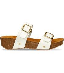 sandalias de plataforma blanco bata glina mujer