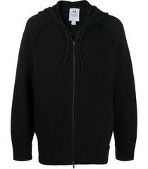 y-3 classic winter full-zip hoodie - black