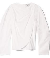 clara blouse in white