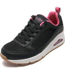 tenis lifestyle negro-fucsia-blanco skechers inside matters,